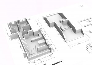 Plan en 3D d'un appartement de type T4