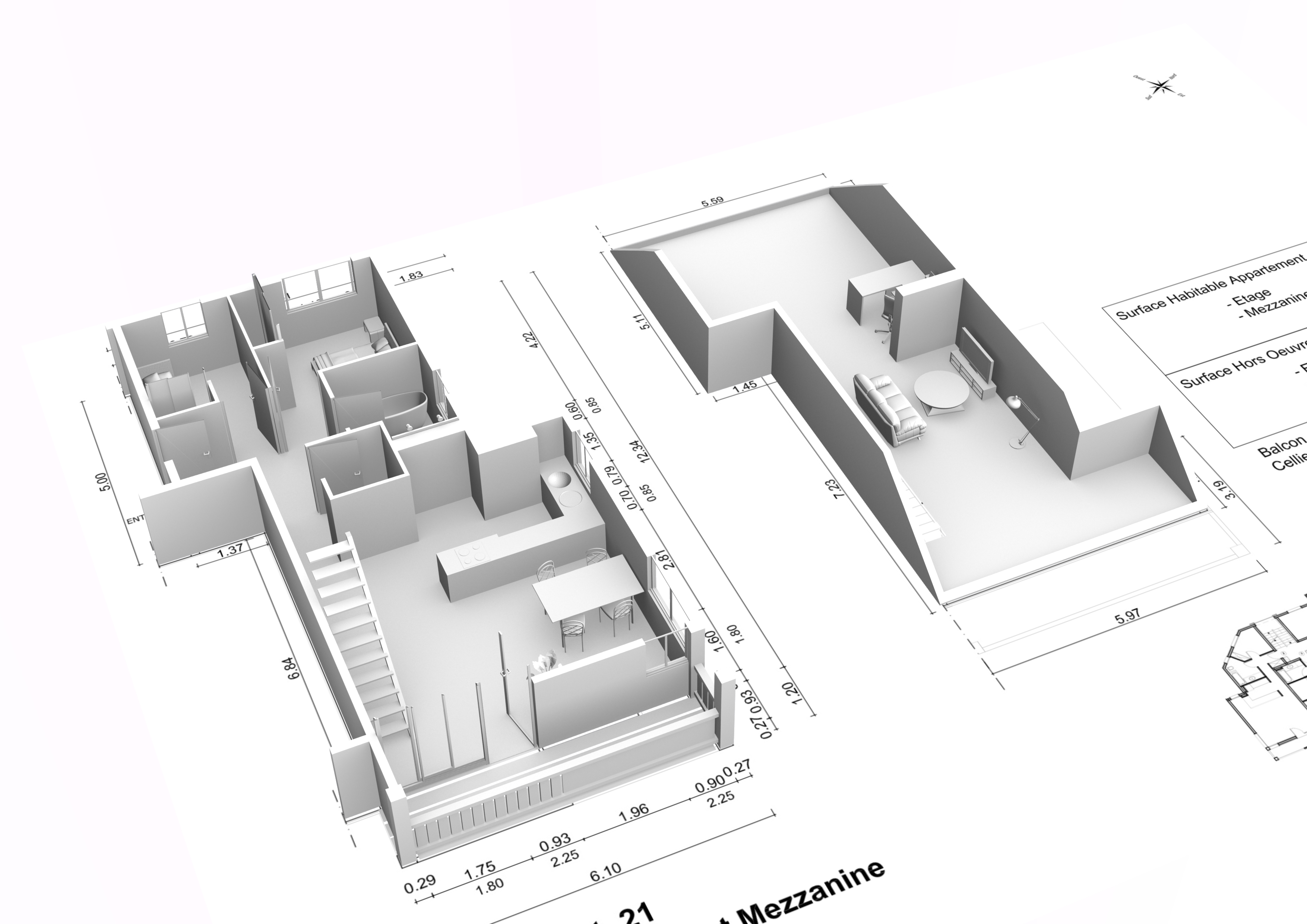 Perspectiviste illustrateur 3d architecture int rieur 3d - Plan architecte 3d ...